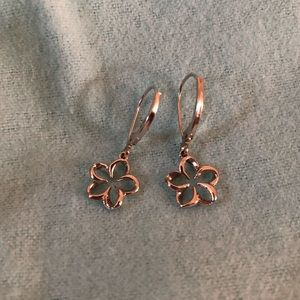 NEW Na Hoku Floating Plumeria Leverback Earrings